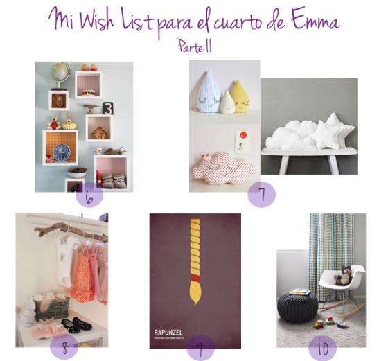 Mi wish list para Emma II