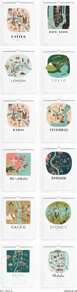 Rifle Paper Co Calendar Cities 2013