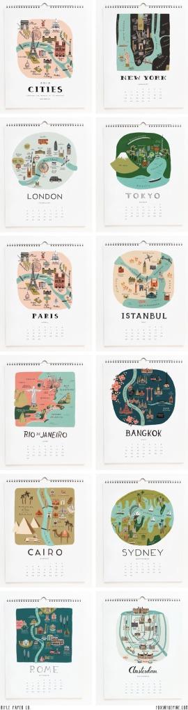 Rifle Paper Co Calendar Cities 2013