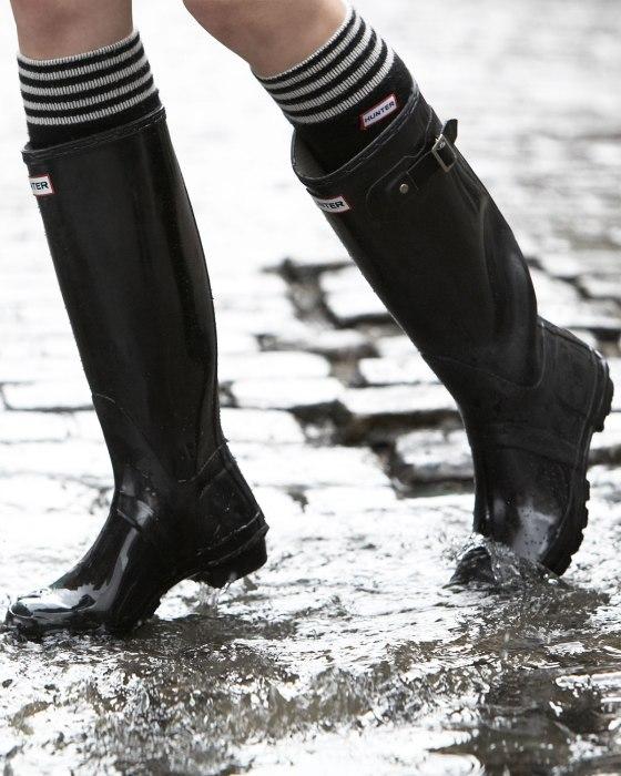 Hunter boots rainy