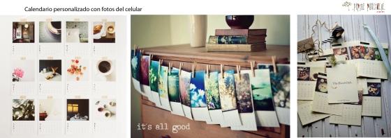 Calendario con fotos del celular