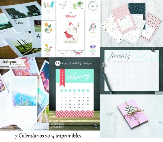 Calendarios 2014 Imprimibles