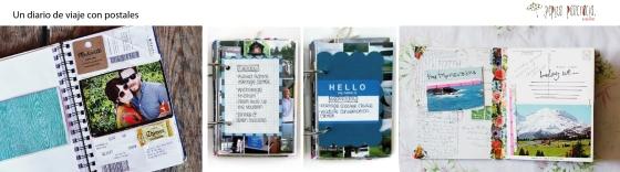 Diario de viaje con postales