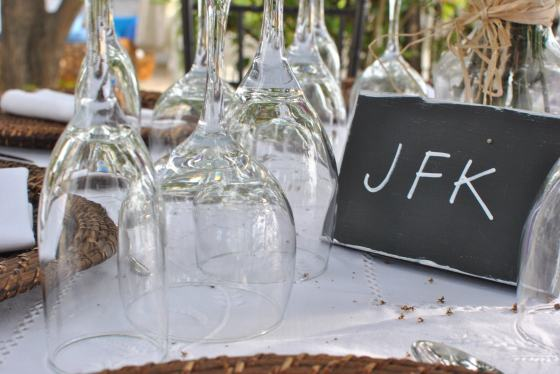 JFK Table name wedding