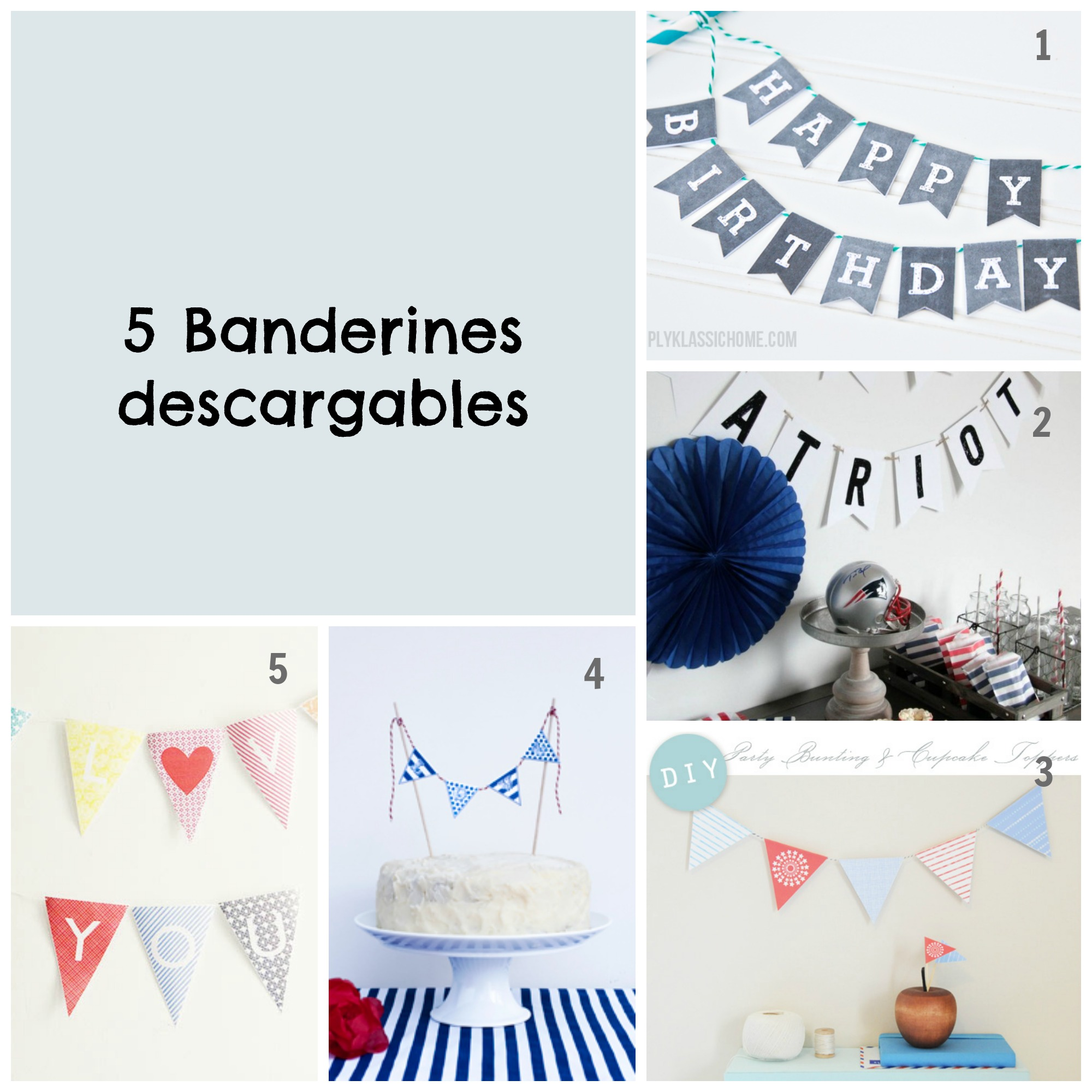 Banderines descargables | Pepita Pancracia