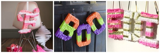 piñata letras collage