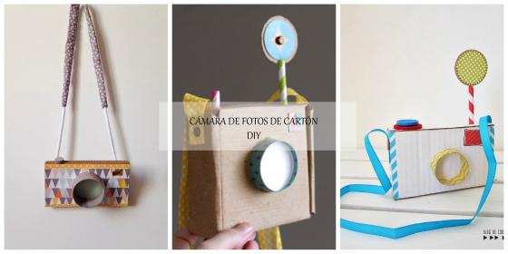Camara de fotos de cartón