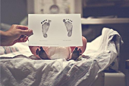 Footprint new born